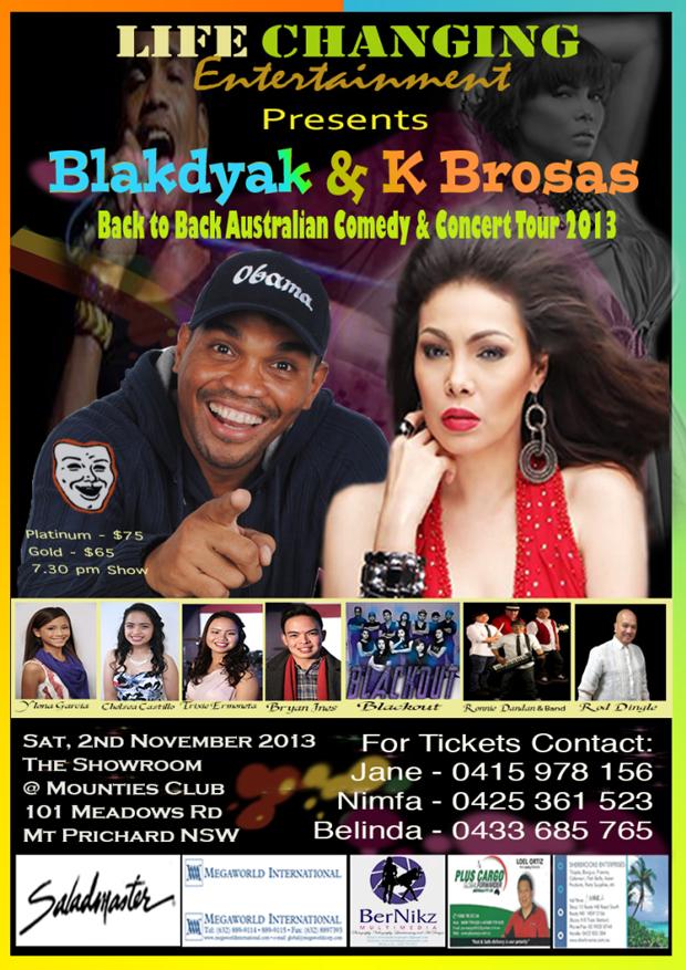 Blakdyak & K Brosas Australian Tour 2013