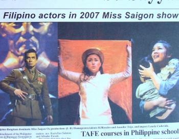 Miss Saigon Production in Australia - Bayanihan
