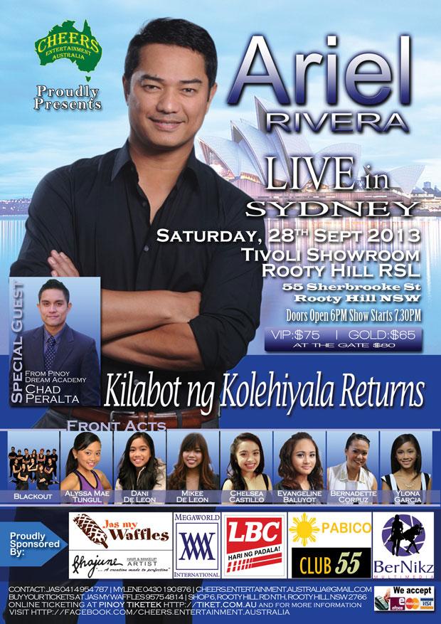 Ariel Rivera Sydney Concert 2013