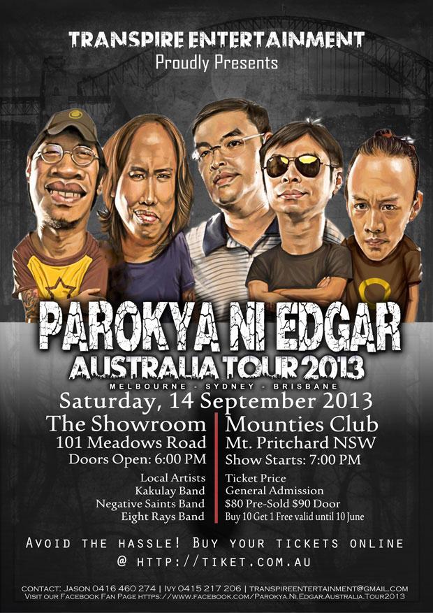 Parokya ni Edgar Australia Tour 2013
