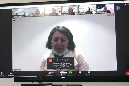 Premier Berejiklian talks with NSW community language teachers